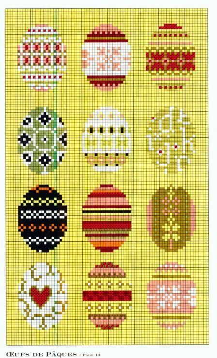 Easter eggs perler bead pattern