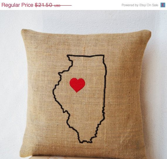 Map Burlap Pillow Cases Cushion