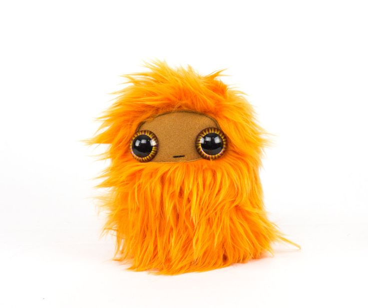 Wide Eyed Orange Nugget Cool Critter Plushie by CoolCritters on Etsy