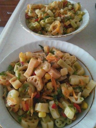 Renkli Makarna Salatası   Mutfakta Yemek Tarifleri
