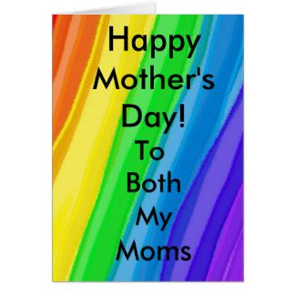 Happy Mother's Day to BOTH my Moms - Customize ALL Card