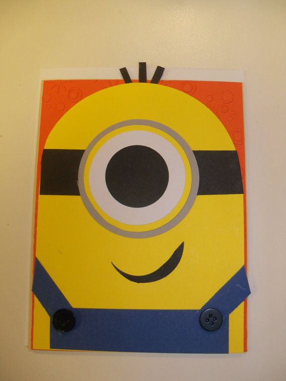 Adorable Dispicable Me Minion Blank Card by Mamaof3CraftSupplies, $3.50