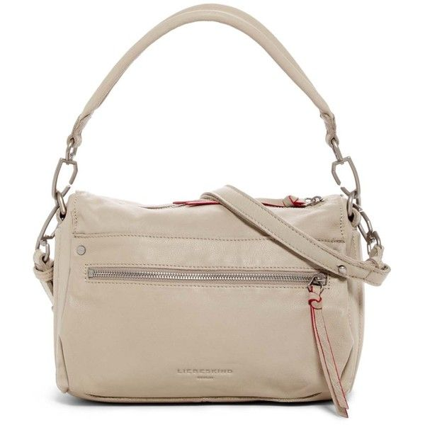 Liebeskind Berlin Santa Clara Sporty Leather Shoulder Bag ($110) ❤ liked on Polyvore featuring bags, handbags, shoulder bags, metro sand, genuine leather shoulder bag, zip shoulder bag, leather shoulder bag, liebeskind handbags and shoulder bag purse