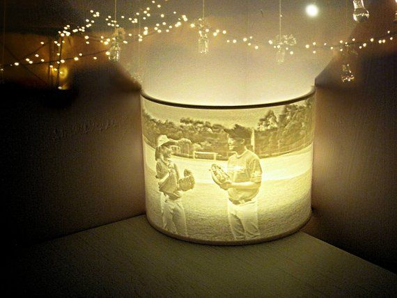 Custom Photo Night Light Lithophane Lamp Led Tealight Holder 3d Printed Personalized Gift Wedding Birthday Anniversary Home Room Decor Tea Lights Night Light Tea Light Holder