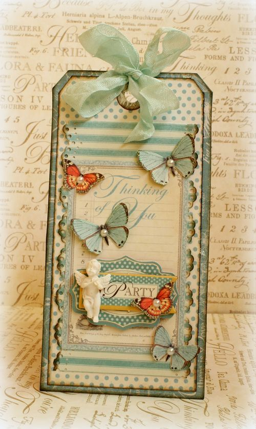 Learn how to make this gorgeous Botanical Tea tag with a great tutorial from Romy! #graphic45 #tutorials #mothersday