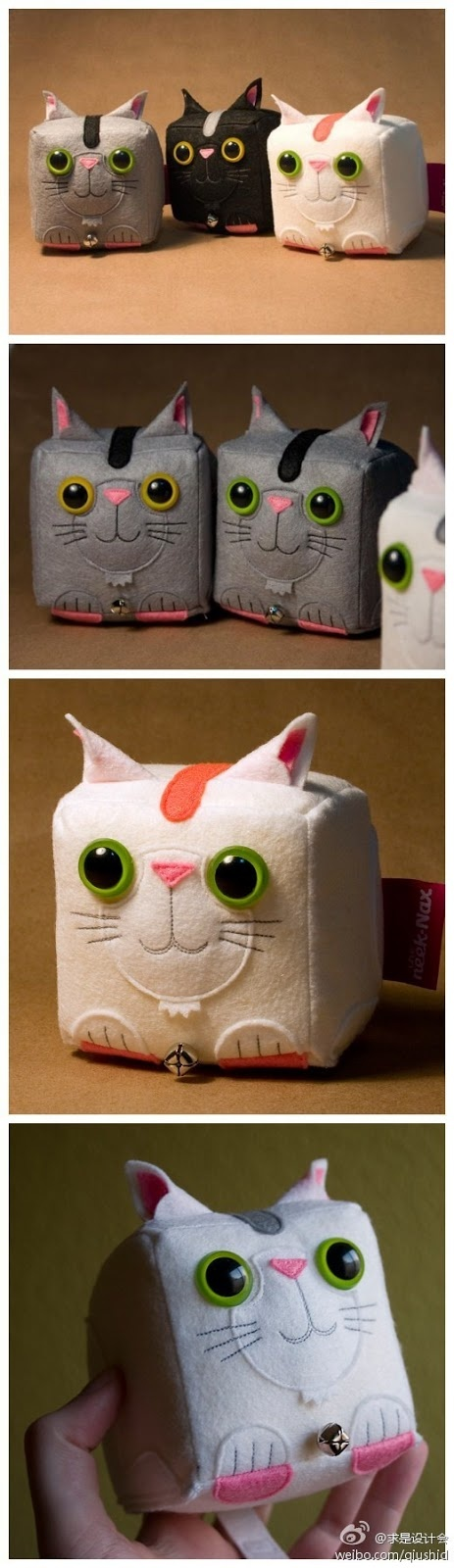 great images: Cubic cat crafts..cute
