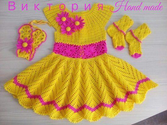 2591 best Vestidos de niña a Crochet. images on Pinterest   Patrones ...