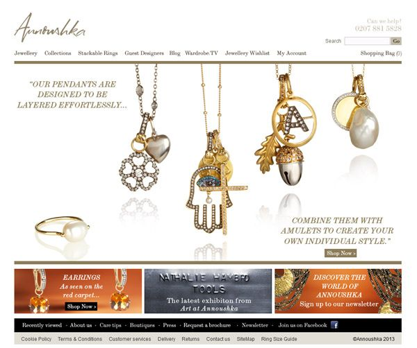 25 Brilliant Jewellery Website Designs