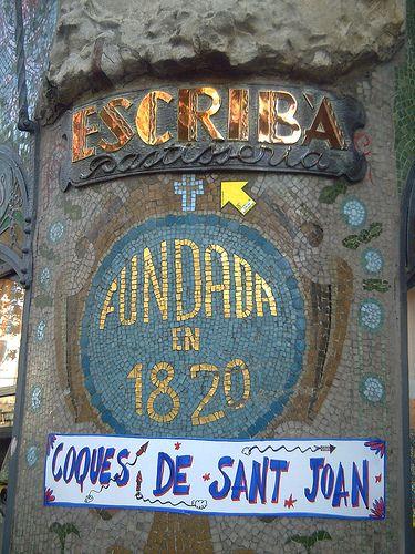 Escriba Pastisseria, historic sweet store, La Rambla Street, Barcelona, Catalonia, Spain,