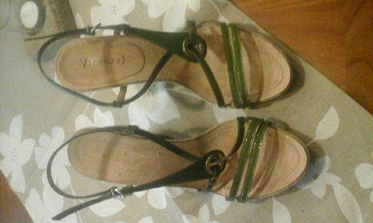 Italienische Schuhe aus Florenz,gruen