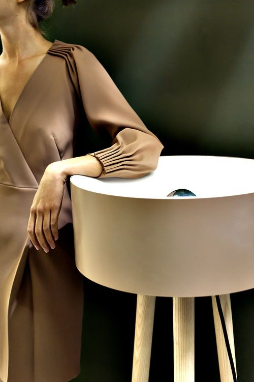 In love with the sculptural, tailored dress more so than the POS1T1ION lamp.