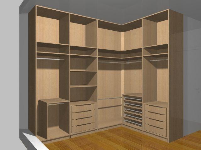 closet pequeno em l Pesquisa Google Wardrope/Closet