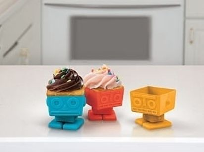 Robot Cupcake Molds   22 Adorable Ideas For An Epic Robot-Themed Birthday Party