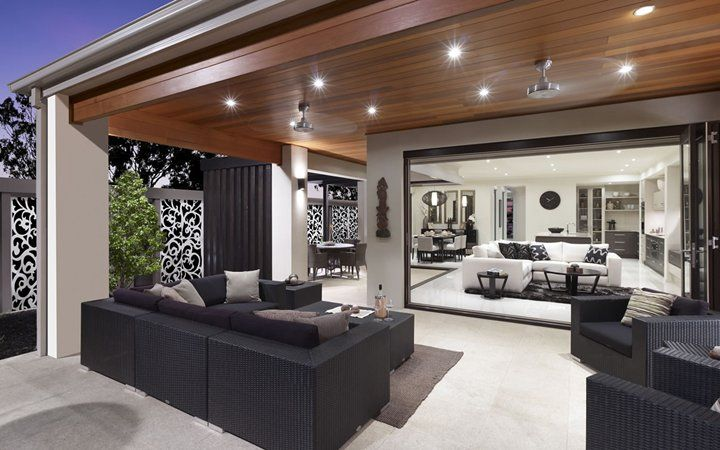 Seamless integration of indoor and outdoor Living Areas with the same flooring continued inside, out.