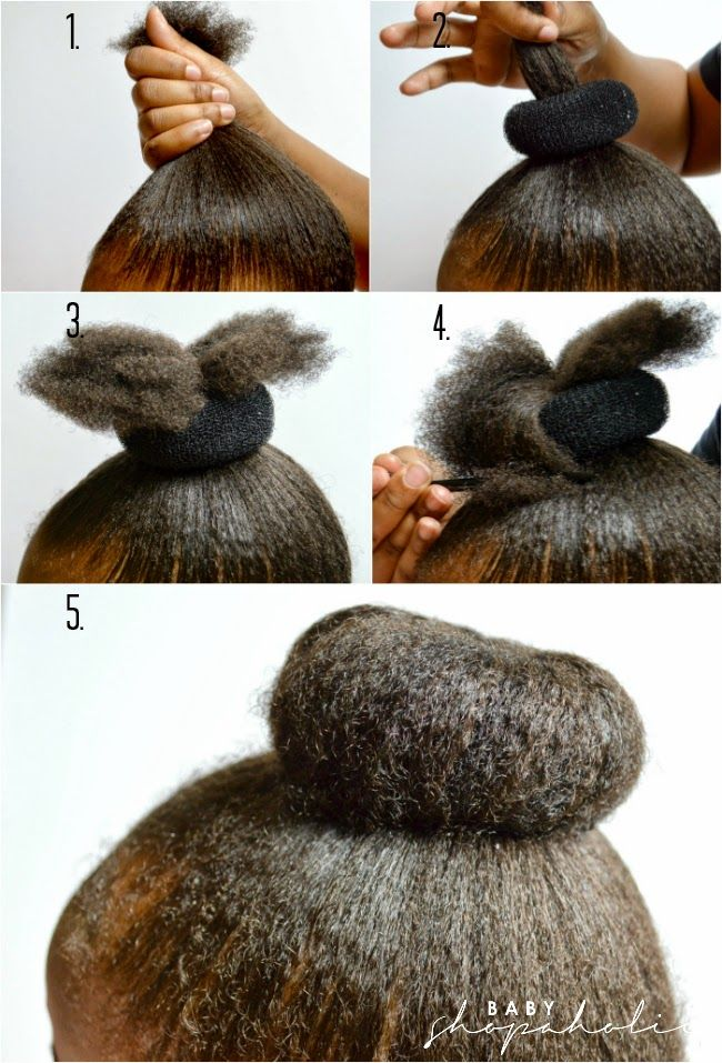Baby Shopaholic Donut Bun Tutorial For Little Girls