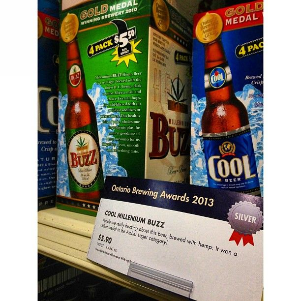 Cool Beer & Millennium Buzz Hemp Beer award winning beers at the LCBO!