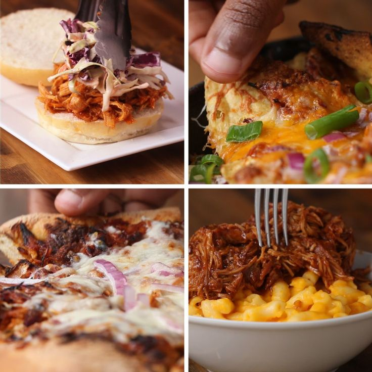 Slow Cooker BBQ Chicken, 4 Meals