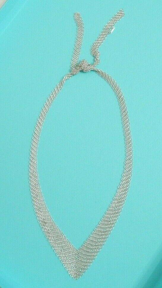 1234c2923 Tiffany & Co Silver Elsa Peretti Mesh Bib Scarf Chain Necklace #TiffanyCo # Chain