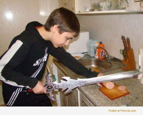 Kroimy kiełbasę mieczem dżedaj
