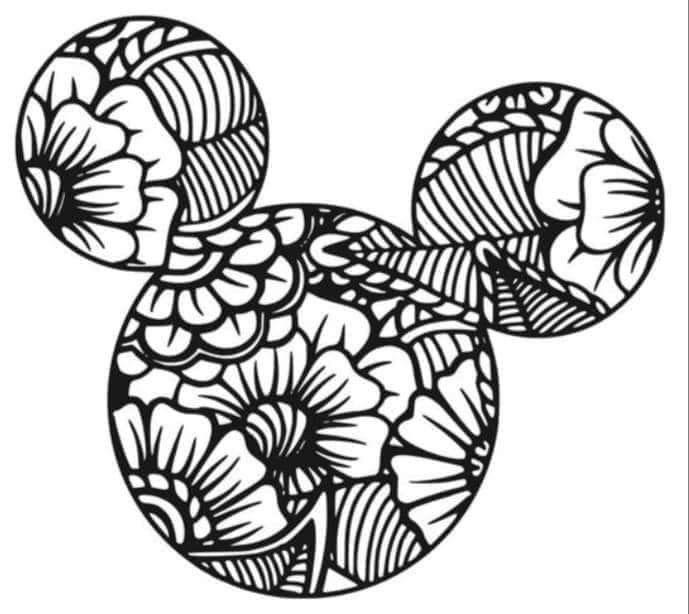 Pin By Amber Slagle On Silhouettes Mickey Mouse Coloring Pages Disney Coloring Pages Mandala Coloring Pages