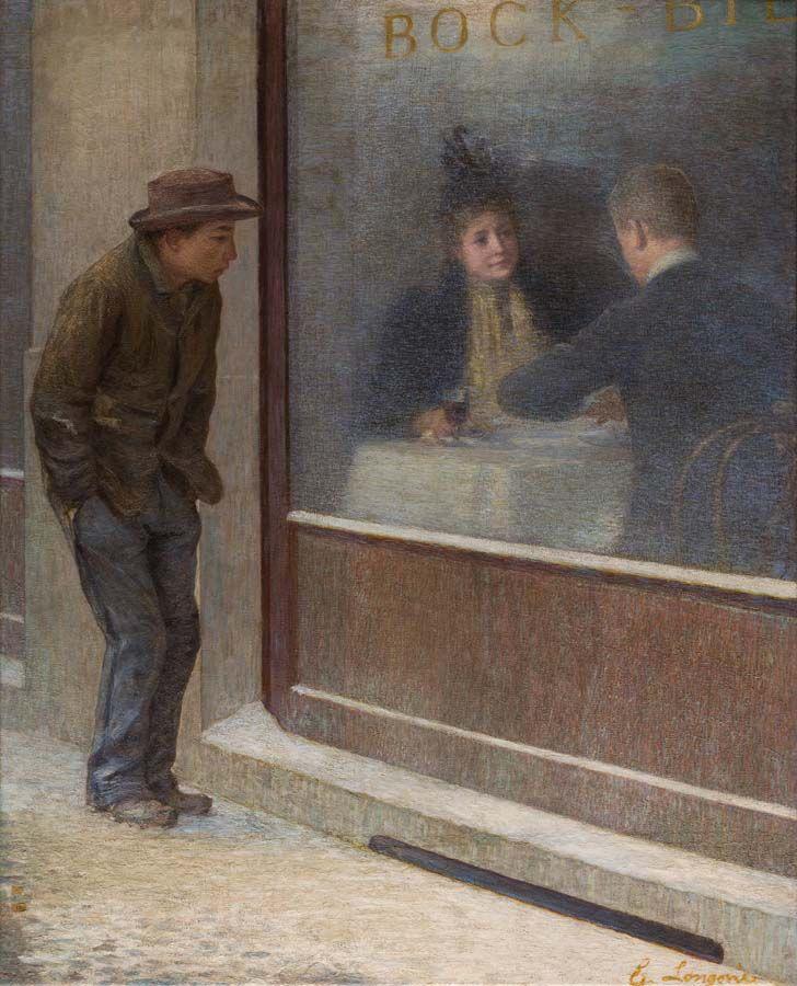 [Emilio Longoni] Riflessioni di un affamato, 1894