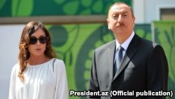 There has been speculation that the post of first vice president is being created for President Ilham Aliyev's wife, Mehriban (left), who is a New Azerbaijan Party deputy chairwoman, or for their 19-year-old son, Heidar.