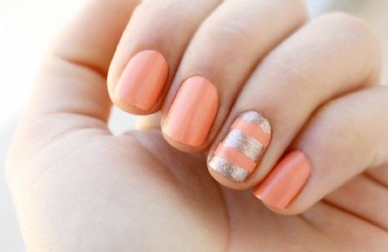 Bridesmaids nails Coral Wedding Theme Ideas