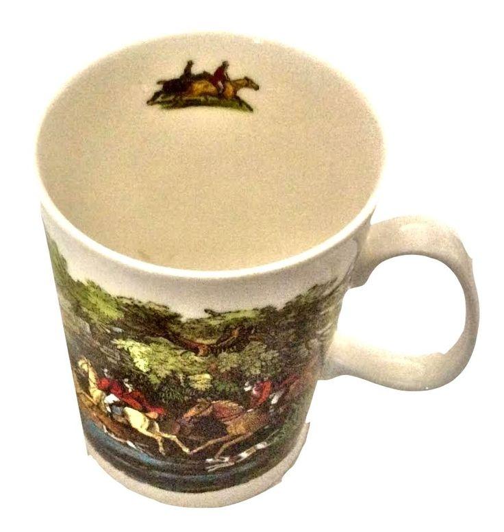 Dunoon China Coffee Mug Tally Ho The Chase Fox Hunting Thomas Bewick #DunoonChina