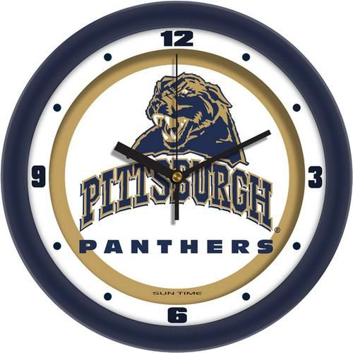 Pitt University Panthers Glass Wall Clock