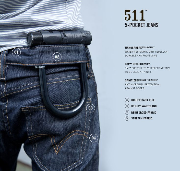 Bike jeans from Levis.  Hopefully not as expensive as Nau, Osprey or Beta pants.