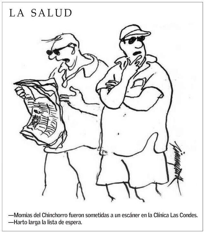 Sigue el impacto por los reveladores estudios a nuestras momias chinchorro. Hoy el Diario El Mercurio les dedica el chiste de su página editorial 😁😆