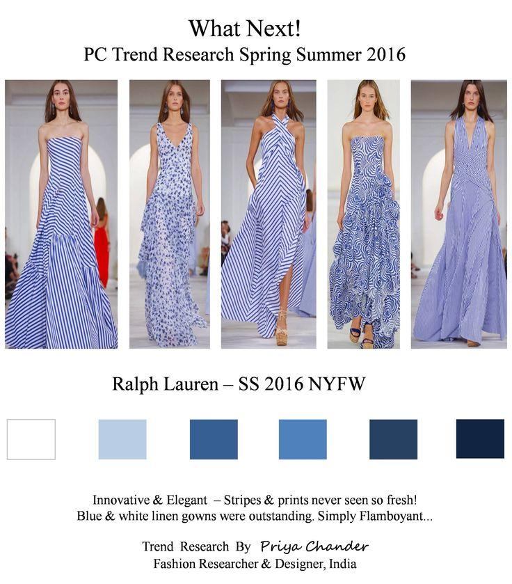 #fashion #art #design #pctrendresearch #ralphlauren #SS16 #NYFW #blue #white #stripes #linen #floral #summerprints #linengown #fashiontrends2016 #fashionindustry #fashionnewslive #fashionweek #fashionnews #mixandmatch #patterns #creative #elegant #colortrends2016 #lifestyle #spiral