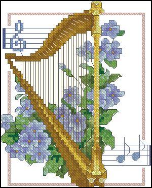 Скачать схемы вышивки музыкальные инструменты