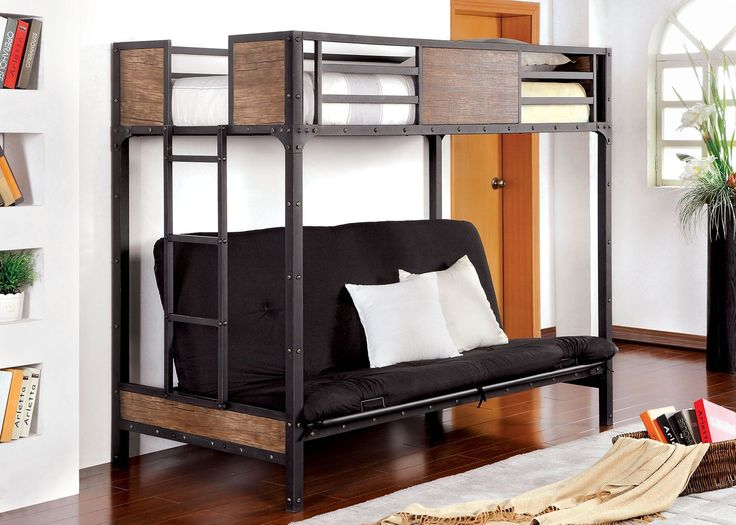 Masculine Rustic Style Futon Bunk Bed A Futon Bunk Bed Is A Great Choice Check more at http://www.wearefound.com/a-futon-bunk-bed-is-a-great-choice/