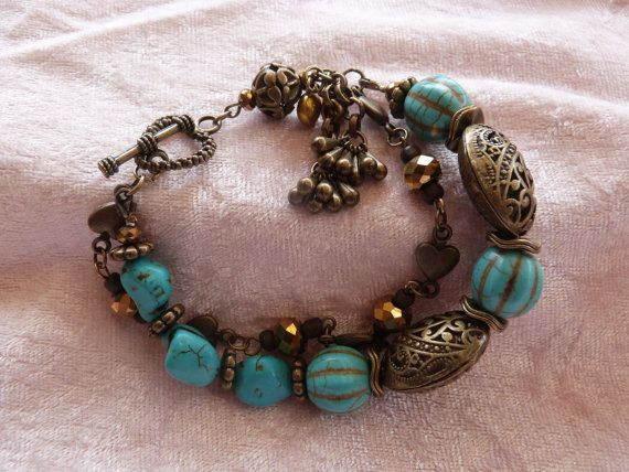 Turquoise Delight by AlluringBracelets on Etsy