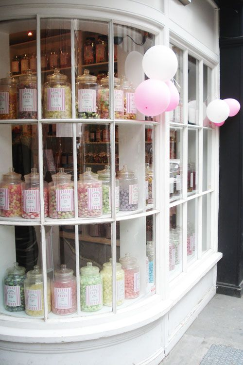 She loves Olde Sweet Shoppes - with the rows and rows of jars! If we pass one, she has to go in and get some strawberry bonbons or lemon sherbets.