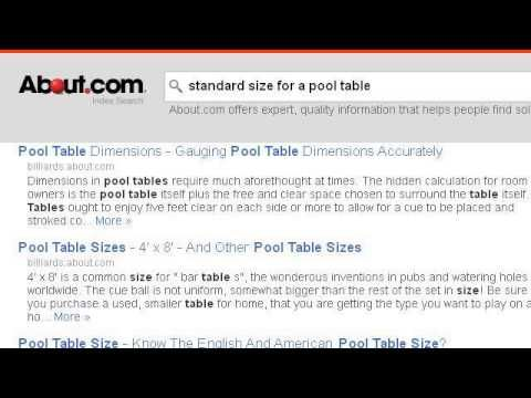 What Is The Standard Size For A Pool Table?   Http://pooltabletoday