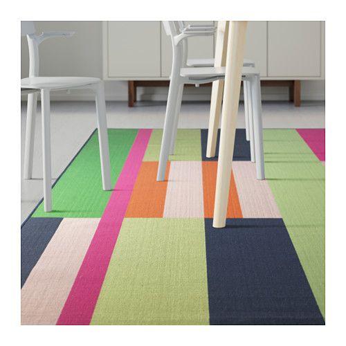 Silkeborg alfombra pelo corto azul alfombras y ikea for Ikea alfombra azul