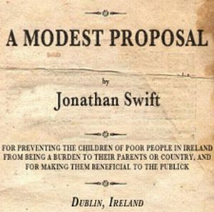 what a modest proposal meant to Find the quotes you need in jonathan swift's a modest proposal, sortable by theme, character, or  from the creators of sparknotes.