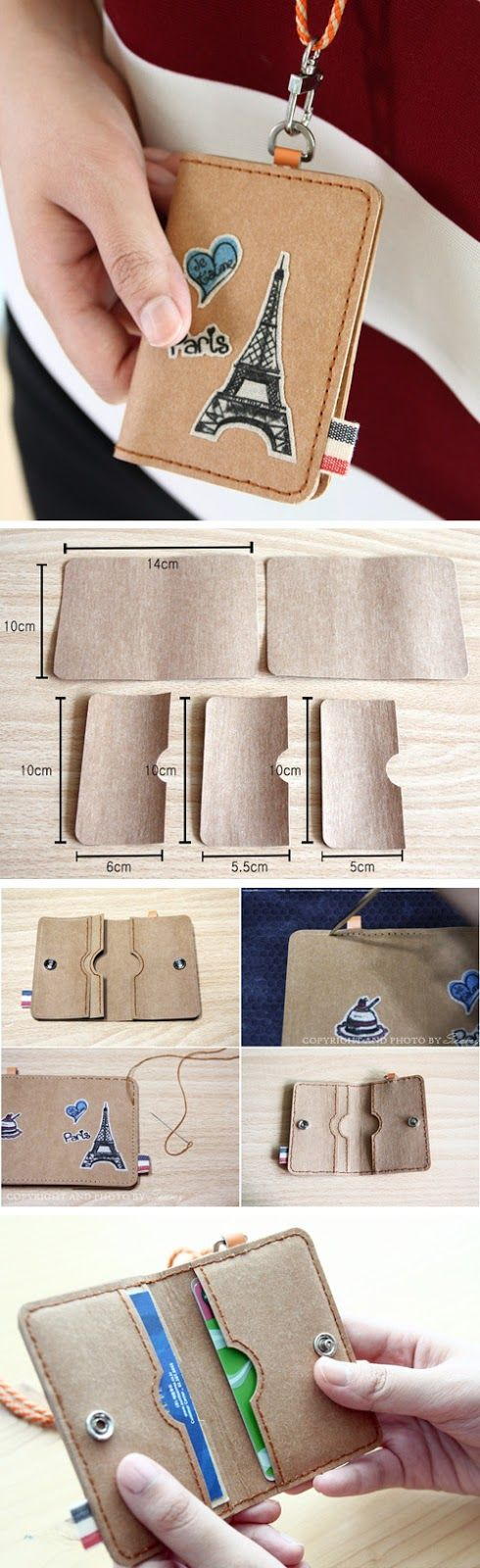 How to Make Easy Faux-Leather Gift Card Wallet. Cool DIY Ideas for Fun and Easy Crafts  http://www.handmadiya.com/2016/10/gift-card-wallet-diy-tutorial.html