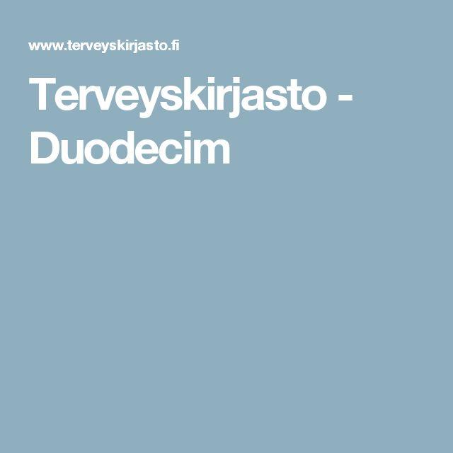 Terveyskirjasto - Duodecim