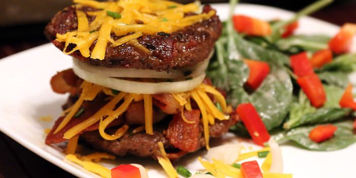 lunch/dinner-Inside Out Bacon Burger