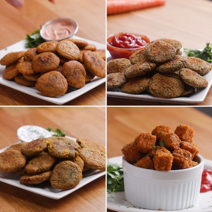 Veggie Nuggets 4 Ways #veggies #nuggets