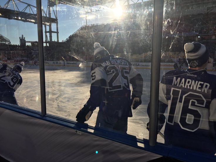 Leafs take warm up for the Centennial Classic Outdoor Game vs Detroit Jan 1, 2017