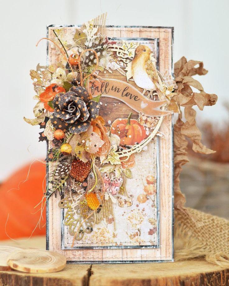 Осень скрап открытки