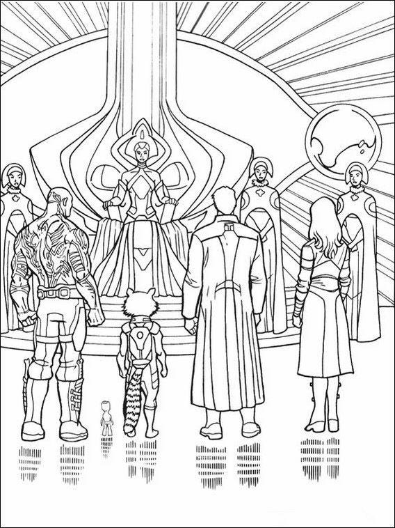 Coloriage Dessins à imprimer pour les enfants Les Gardiens de la Galaxie 12