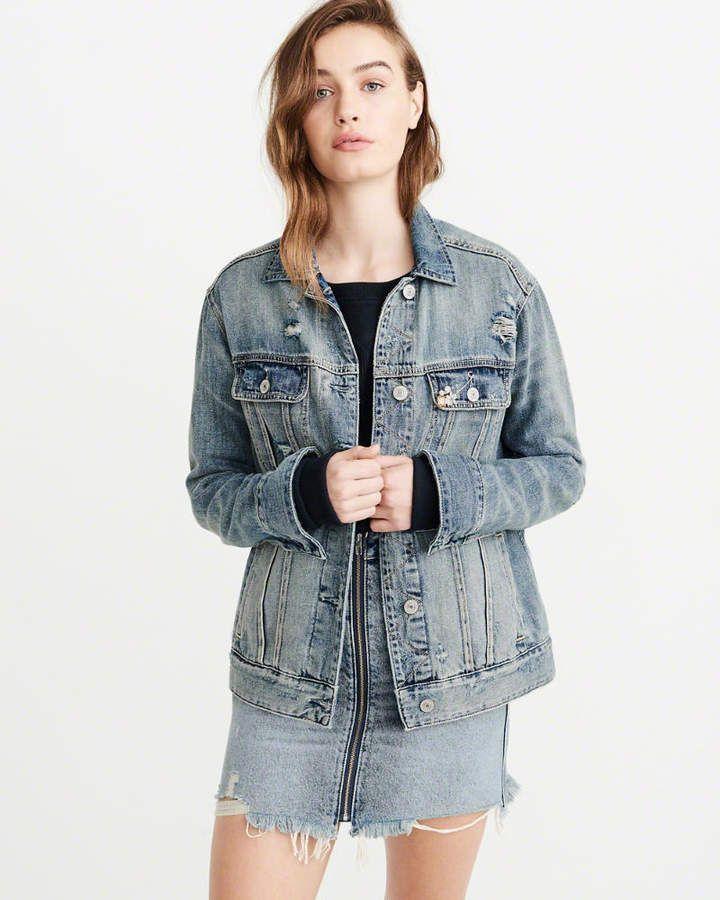 Girlfriend Denim Jacket Denim Jacket Jackets Denim