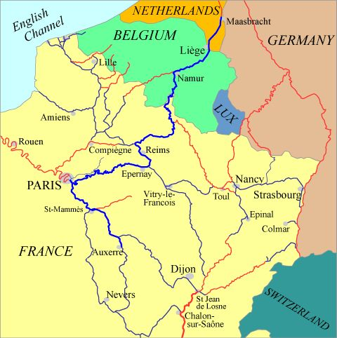 Netherlands to Burgundy via Paris