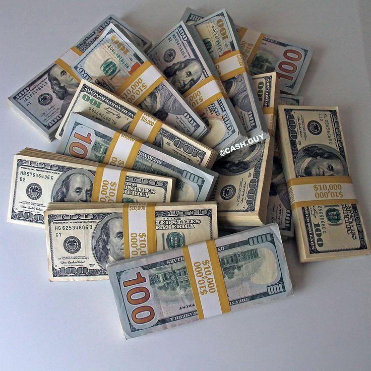 100 Dollar Bills Stacks Colorful Money Stacks At The Desk Enjoy