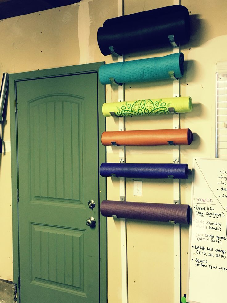 Diy Yoga Mat And Foam Roller Holder For Home Gym Each Set